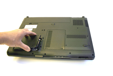 removing second hard disk drive cover of dv9000 notebook