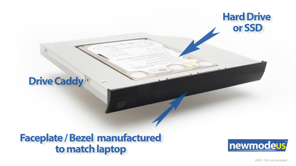 2nd HDD / SSD Caddy for HP ZBook 15 or 17 G1 G2 - Click Image to Close