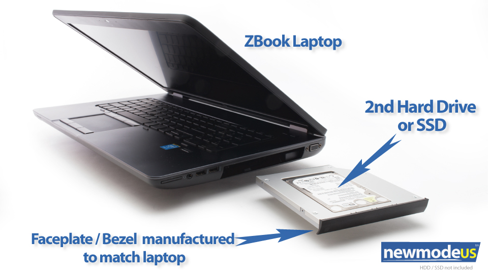 2nd HDD / SSD Caddy for HP ZBook 15 or 17 G1 G2 [HP-ZBOOK-15