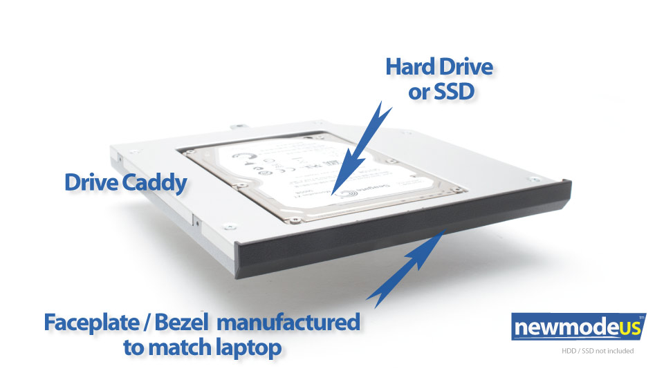 2nd HDD Caddy, Lenovo W540, W540p, W541, T540, T540p, T440p - Click Image to Close